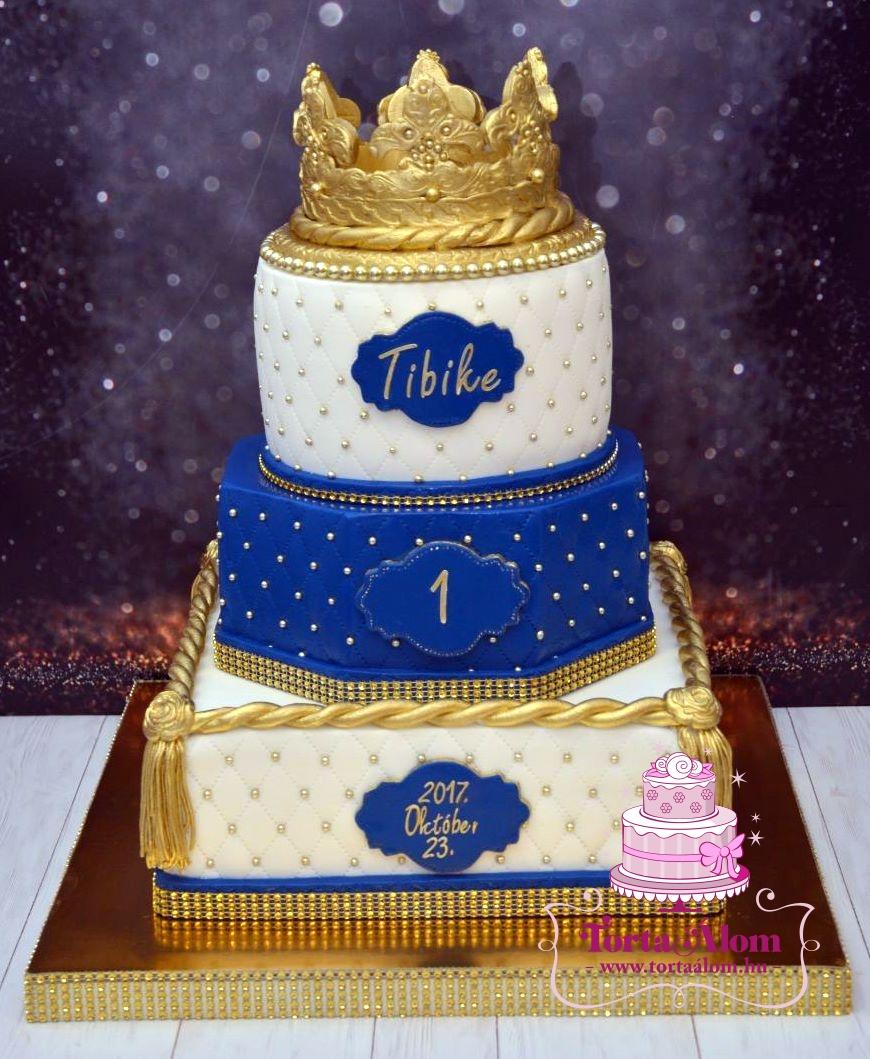 84e9a96014 Tortaálom | Formatorta | Arany koronás torta fiúnak